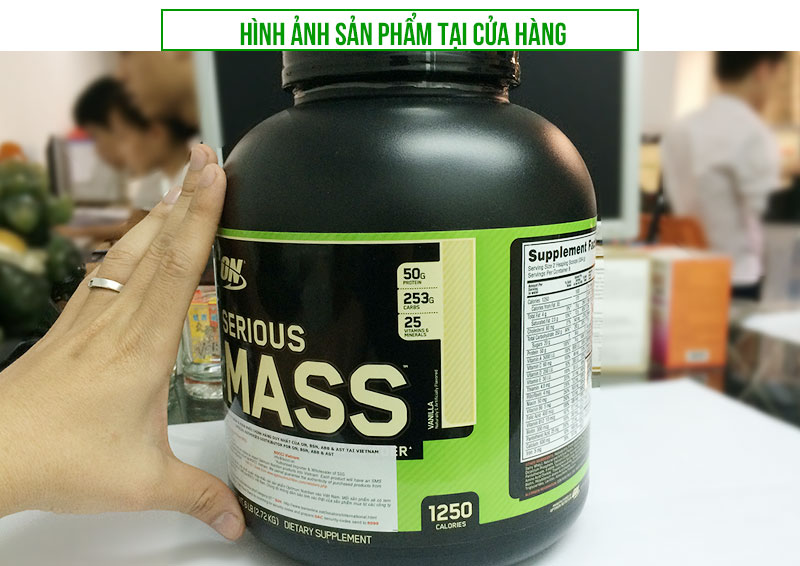 Sữa tăng cân Serious Mass 6lbs trong bộ TC018