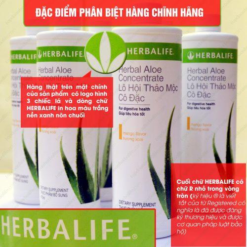 Cách phân biệt nước lô hội Herbalife Aloe Concentrate chính hãng