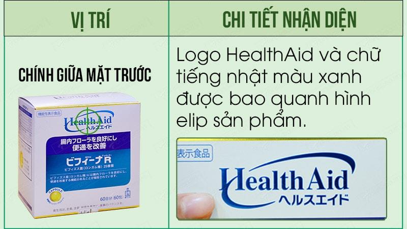 Cách nhân biết logo của sản phẩm men visinh bifina health aid