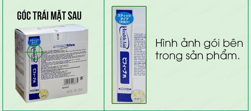 Cách phân biệt men visinh bifina health aid thật giả 02