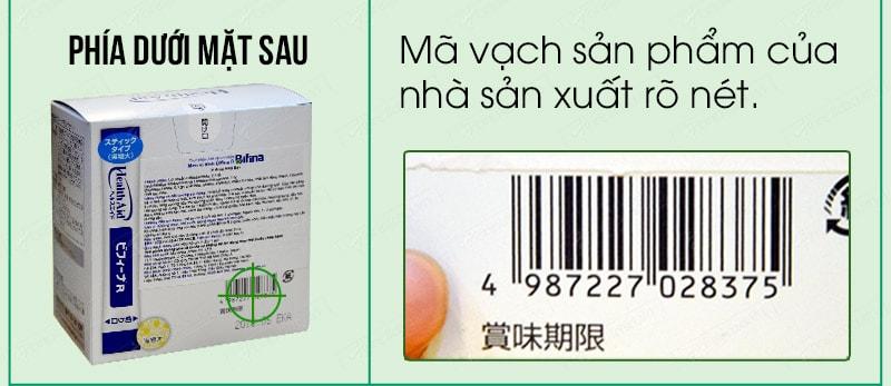 Cách phân biệt men visinh bifina health aid thật giả 04
