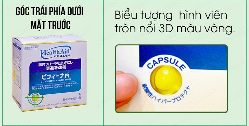Cách phân biệt men visinh bifina health aid thật giả