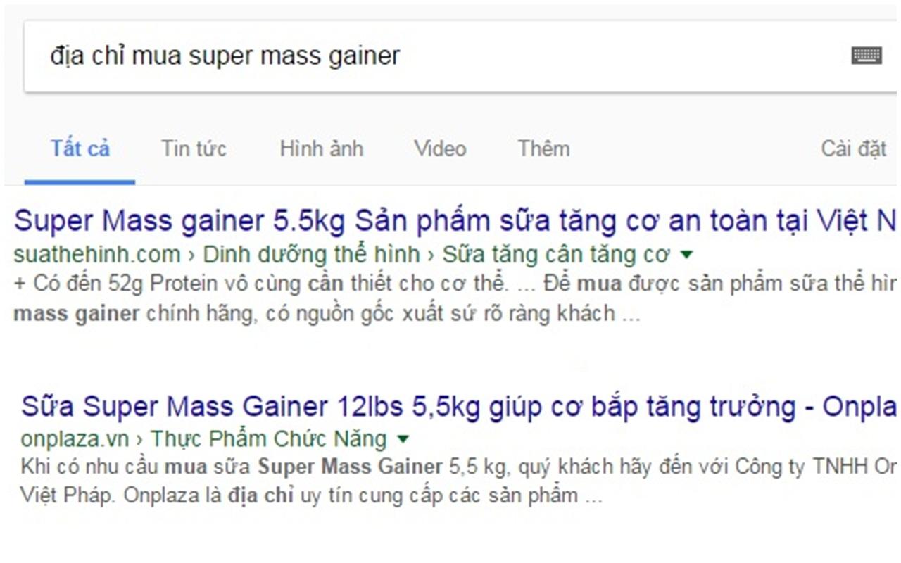 Cách tìm kiếm địa chỉ mua supper mass gainer chất lượng