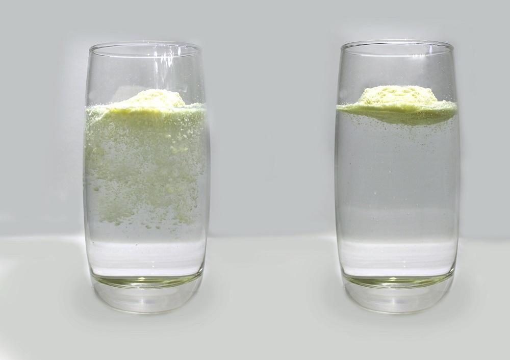 Phân biệt sữa tăng cân thật giả dựa vào độ tan của sản phẩm