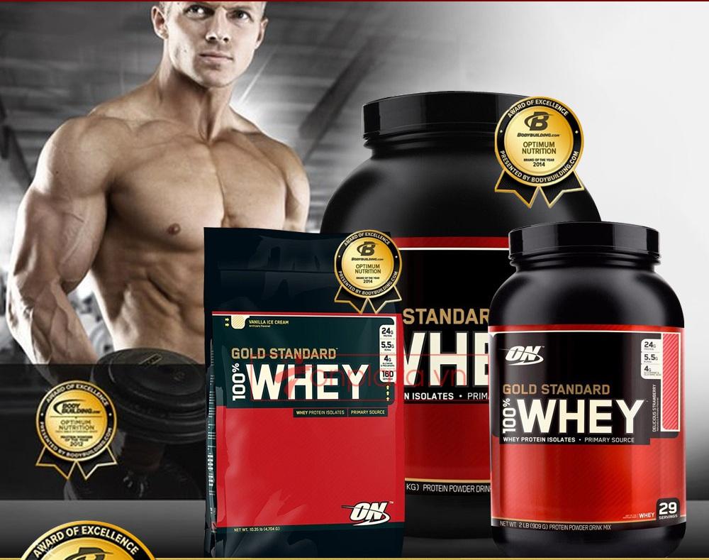 Sản phẩm sữa tăng cân Whey Protein chính hãng