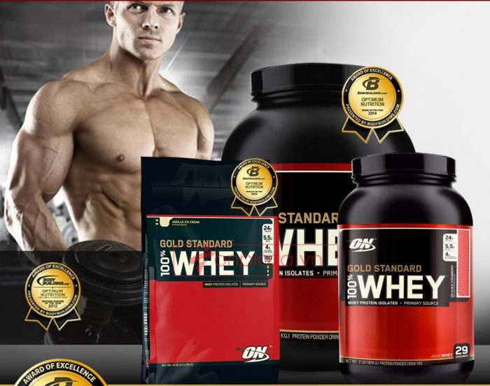 Whey protein là lựa chọn hàng đầu của Gymer