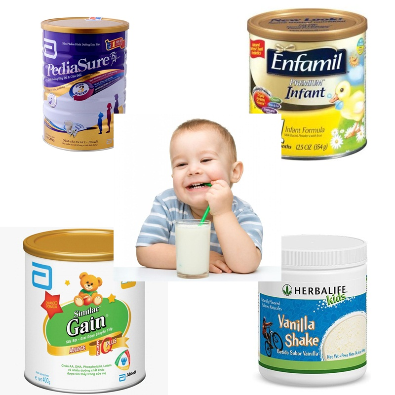Các loại sữa tăng cân cho trẻ của mỹ
