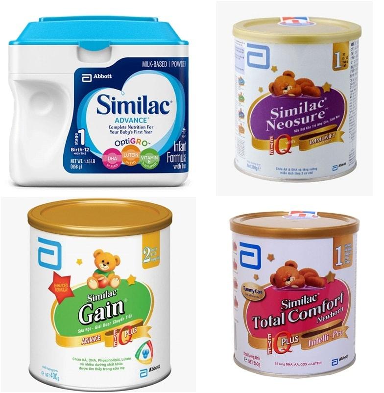 sữa similac tăng cân cho bé của mỹ