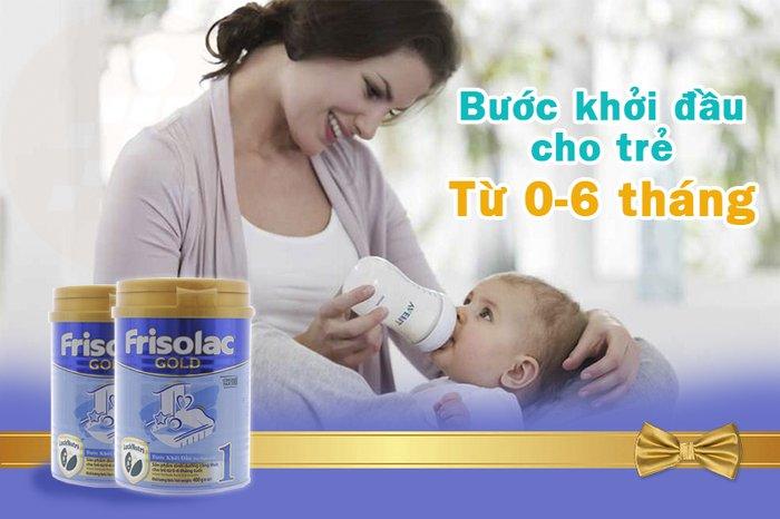 Sữa Frisolac gold 1 bước khởi đầu cho trẻ từ 0-6 tháng tuổi