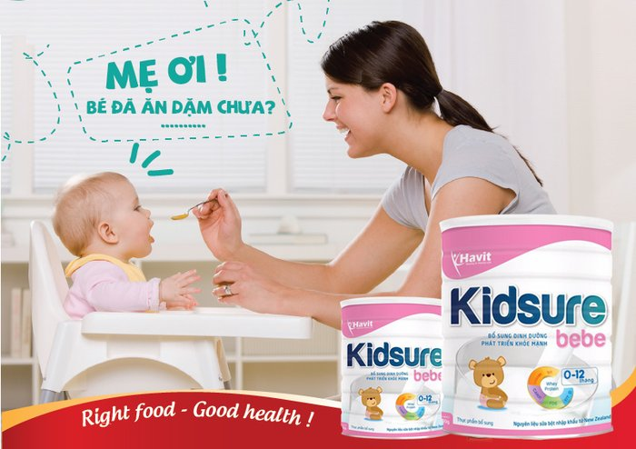 Sữa Kidsure bebe – sữa tăng cân cho trẻ sơ sinh
