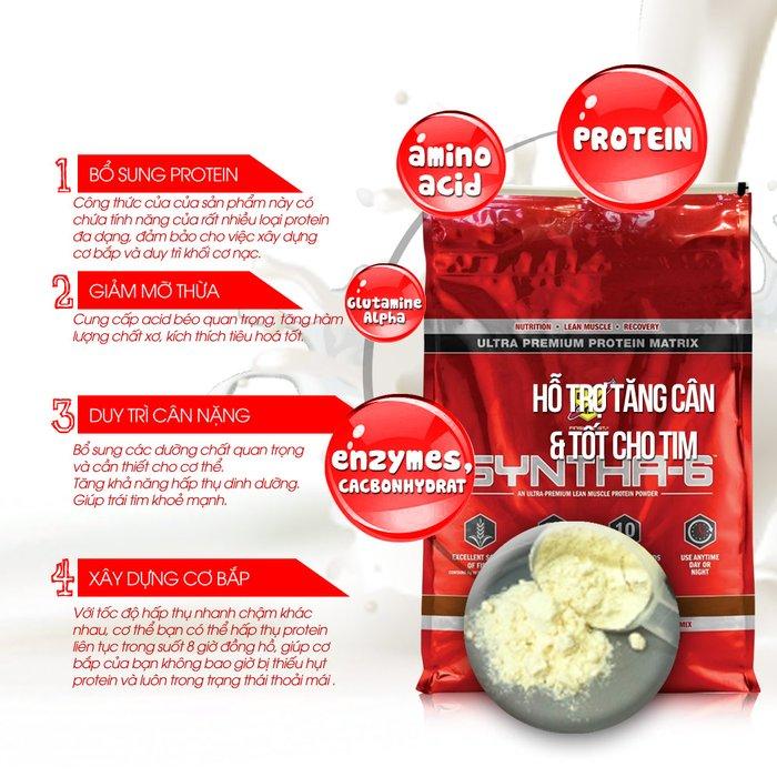 Tác dụng của sữa tăng cơ syntha rất tốt