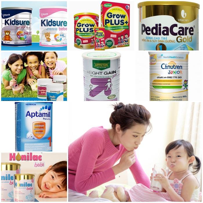top 8 loại sữa tăng cân cho bé