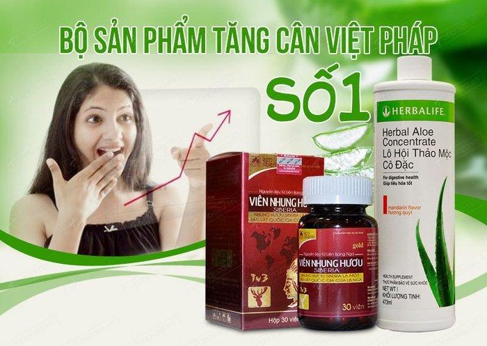 Sử dụng bộ tăng cân số 1 Việt Pháp để tăng cân nhanh